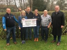 Der Vorstand des SGC Harz bei der Scheckübergabe des Swingolfdachverbands im Januar 2018